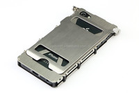 New Silver Iron Man Stainless Steel Metal Flip Case Cover for iphone5 5s