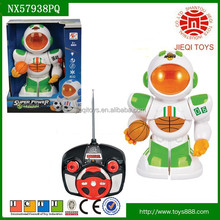 2015 Quality products 4CH remote control robot toys for kids with basketball and light without battery