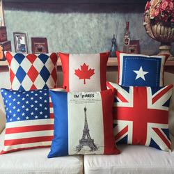 Customized Creative British American flag pillow
