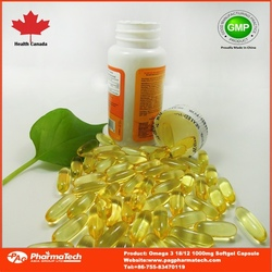 GMP certified fish oil softgels with omega
