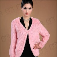 The most fashional color changing mink fur jacket for women