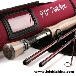 Reasonable price 30T SK carbon 9ft #7 4sec fly rod