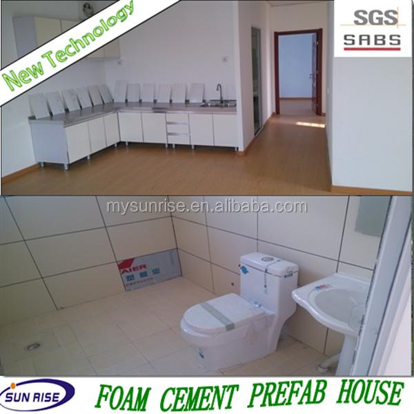 Sgs 2015 new technology low cost foam concrete prefab for Styrofoam house cost