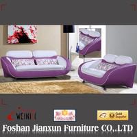 D256 living room furniture purple sectional sofa