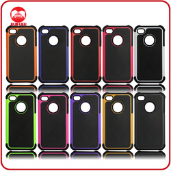 Popular Football Pattern Shockproof Rugged Hybird Mobile Phone Combo Case for Iphone4 4S
