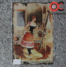 Modern Wall Decoration Tin Sign Picture Images Of Women