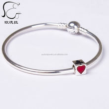 lucky o shaped sterling silver wholesale charms bracelets