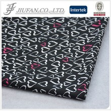 Jiufan Textile DTY Stretch Super Soft Polyester Lycra Heart Printed Knit Fabric
