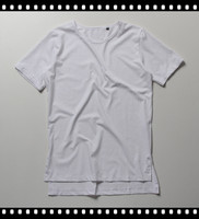 100% Cotton Skin Felling Loose Mens Extra Long T-Shirt