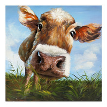 Animal Wall Art Oil Painting for Kids Room