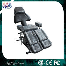 Leather removable head rest professional tattoo chair, new invention tattoo bed with swing legs,hot sale soft beauty salon chair