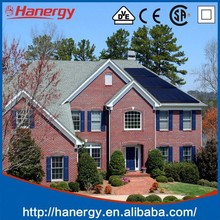 Hanergy solar electricity generating system for home with 2000w thin film solar module on flat roof