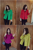 Korean new style fashion coats double breasted slim fit winter short coat