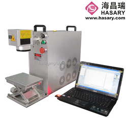 Metal/plastic/stainless steel/jewelry fiber marking laser machine