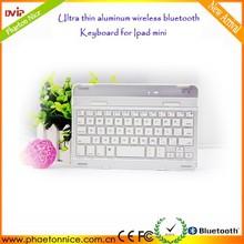 venta caliente 6 años fabricante de aluminio teclado bluetooth para ipad mini