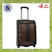 China Shopping Online High Quality Hot Sale PU EVA Crocodile Grain Cheap luggage