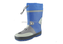 simple style with dog printing rubber rain boots