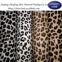 Synthetic leopard leather Mirror leather pu leather