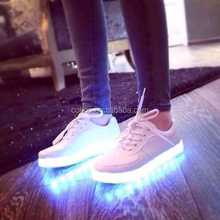New men's fashion sneakers black running shoes male lighted casual shoes LED glow shoes International brands