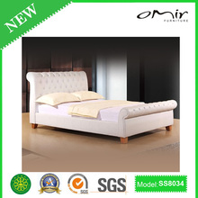modern white leather bed SS8034