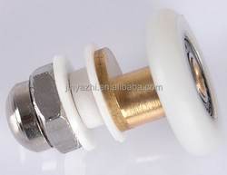 brass stainless steel nylon shower door rollers wheels with bearing