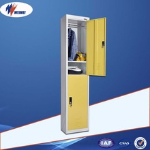 Clothes Storage Metal Cabinet Steel Locker/2 Door Colorful Full High Clothes Cabinet Steel Locker