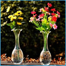M- 2015 hot sale classic glass vase +sandy