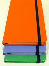 JY5005 customize A4 / B5 / A5 / A6 Pu leather Notebook with elastic band / ribbon / Pocket