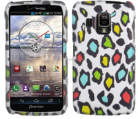 Rainbow Leopard 2 pieces shockproof water transfer printing case for PANTECH Perception R930L [ free screen protector ]