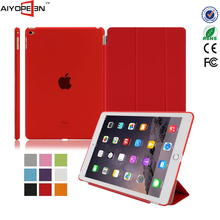 Texture Design PU Leather Foldable Stand Case Cover Protector for iPad Air 2