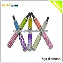 Very Very Hot!!!!800puffs Crystal Ego Crystal Diamond Ego Battery 1100mah Over 300 times charge disposable vaporizer pen