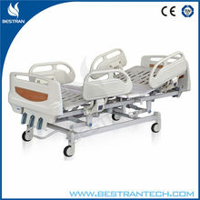 China BT-AM102 three function manual medical hospital bed patient clinic bed with abs side rail