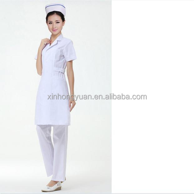 White Nurse Uniform Dress 89