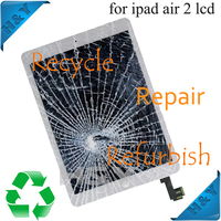 Fix cracked lcd display for ipad air 2 for iphone 4/5/5s 6 6plus service for Ipad air 2 replace bad touch screen service
