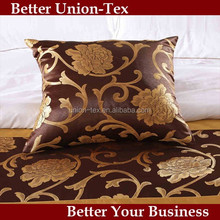 Polyester jacquard 50*50cm home or hotel throw pillow, throw pillow cover