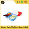 Hot sale silicone plastic food box with compartments