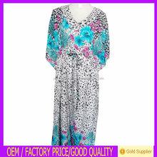 2014 de moda Dubai abaya / azul de la señora kaftan / mujeres del vestido / ropa musulmán made in China