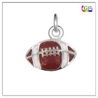 Fashion Silver Football Charm