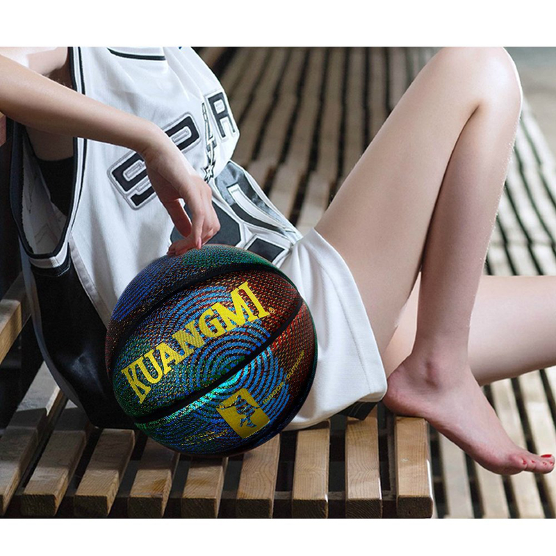 Personnalisé de basket-ball coloré composite en cuir de basket-ball balle