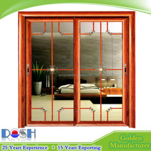 Aluminium sliding door/Accordion door double or single glass with Austral door lock with key