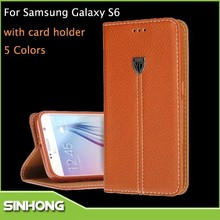 New Produts 2015 Mobile Phone Leather Flip Case For Samsung S6