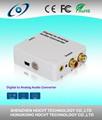 de digital a analógico convertidor de audio con 2 canales de lpcm y coaxial