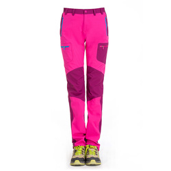 Excellent stretch brand thin leg zipper off Womens outdoor pants for camping