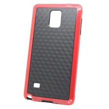 Dual Color 3D Cube Pattern Protective PC and TPU 2-pieces Hybrid Case for Samsung Galaxy Note 4