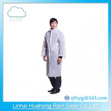 PE PEVA before open long gown raincoat can print