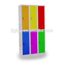 euloong baratos duplo porta de metal em aço inoxidável roupas armário de armazenamento