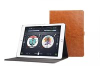 Fashion tablet leather cover High quality luxury flip with card stand holster for ipad pro 13inch