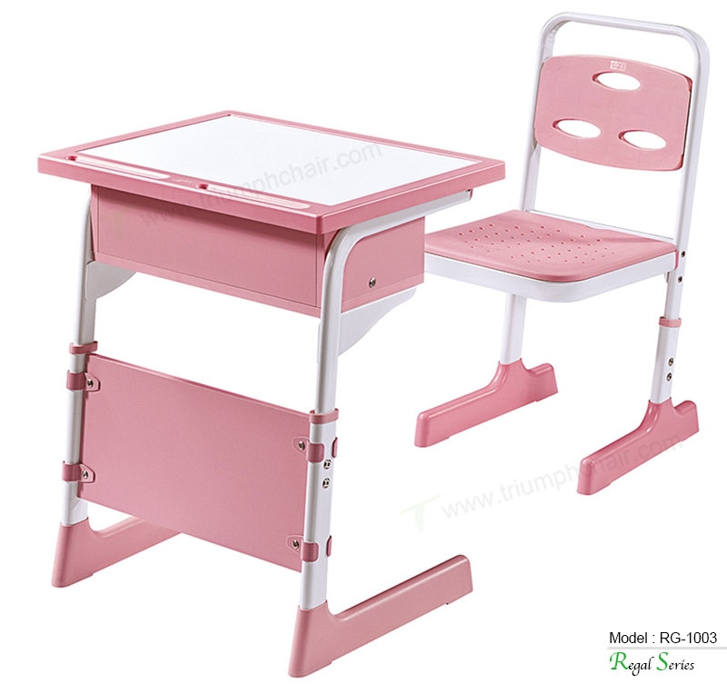 Triumph new design pink color kids reading study table for Reading table design