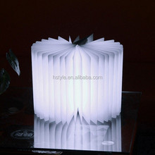 LED light illuminate 360 degree USB Creative Book Shape Lamp Cute Night Light SNL049