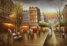 welcome Trading company order oilpainting,new nice paris street painting